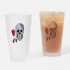 Skull with Roses Pint Glass