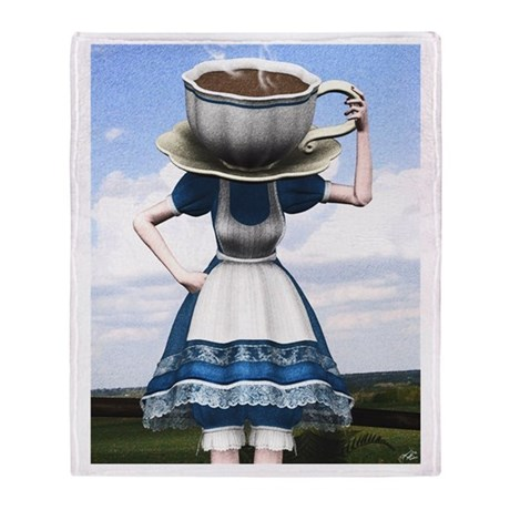 Tea With Alice Throw Blanket