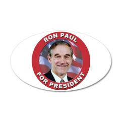 Ron Paul for President 22x14 Oval Wall Peel