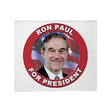 Ron Paul for President Throw Blanket
