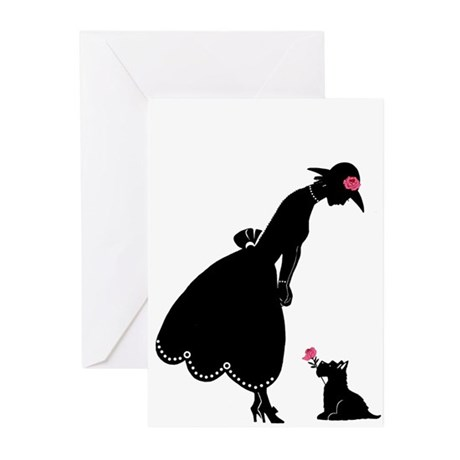 Scottie and Rose Greeting Cards (Pk of 10)