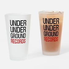 Under Under Ground Records Pint Glass