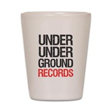 Under Under Ground Records Shot Glass
