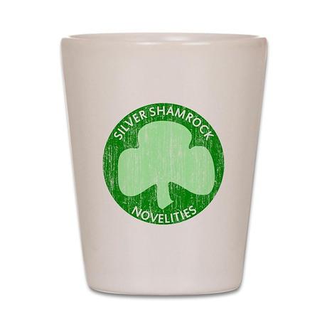 Silver Shamrock Shot Glass