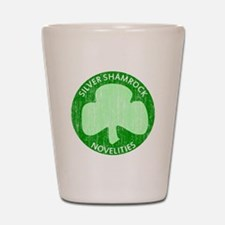 Silver Shamrock Shot Glass