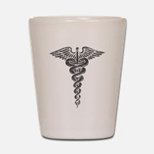 Vintage Caduceus Shot Glass