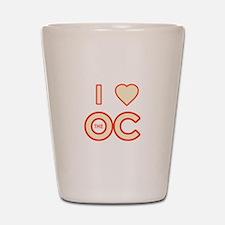 I Love the OC Shot Glass