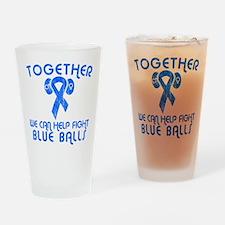 Help Fight Blue Balls Pint Glass