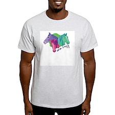 Horse Crazy Ash Grey T-Shirt