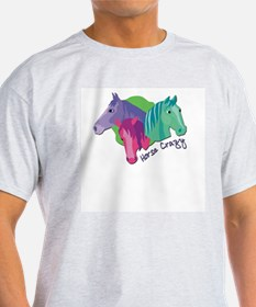 Horse Crazy Ash Grey T-Shirt