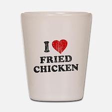 I Love [Heart] Fried Chicken Shot Glass