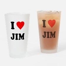 I Love Jim Pint Glass