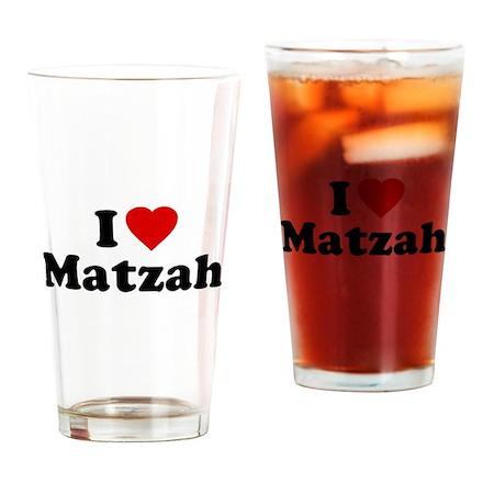 I Love [Heart] Matzah Pint Glass