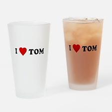 I Love [Heart] Tom Pint Glass