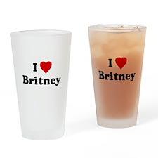 I Love Britney Pint Glass