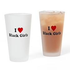 I Love [Heart] Black Girls Pint Glass