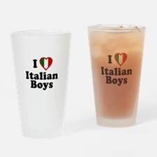 I Love Italian Boys Pint Glass