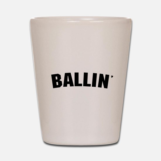Ballin' Shot Glass
