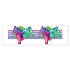 Crazy for Horses Bumper Bumper Sticker