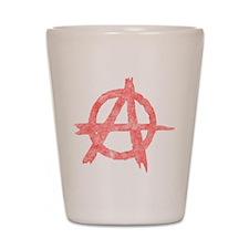 Vintage Anarachy Symbol Shot Glass