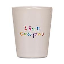 I Eat Crayons Shot Glass