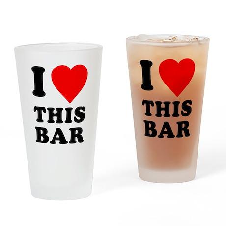 I Love This Bar Pint Glass