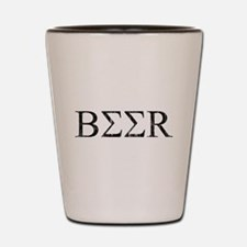 Greek Beer Shot Glass