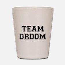 Team Groom Shot Glass