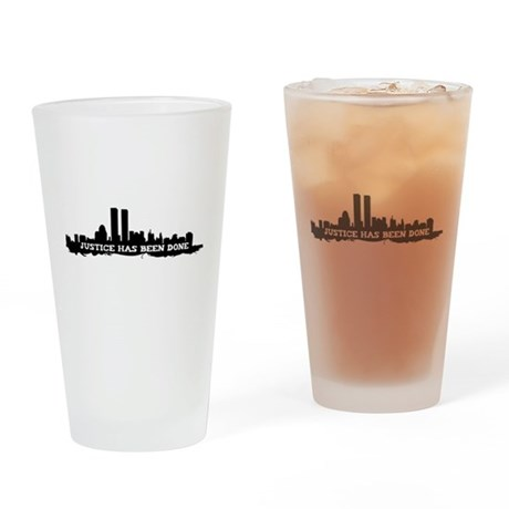 9-11 Justice Has Been Done Pint Glass