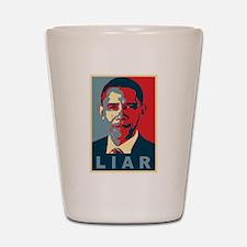 Obama Is A Liar Shot Glass