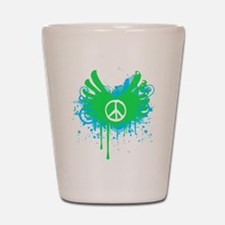 Peace and Love Shot Glass