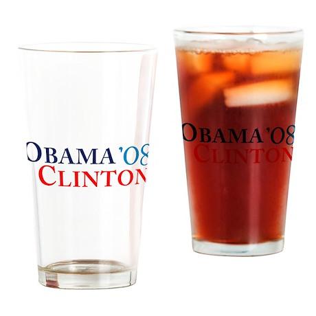 Obama Clinton '08 Pint Glass