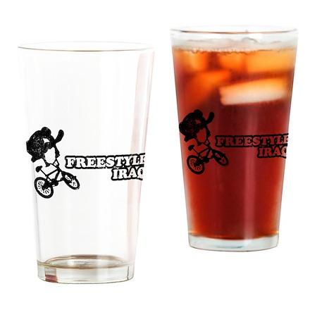 Freestyle Iraq Pint Glass
