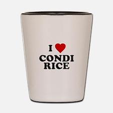 I love [heart] Condi Rice Shot Glass