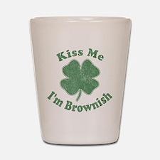 Kiss Me I'm Brownish Shot Glass