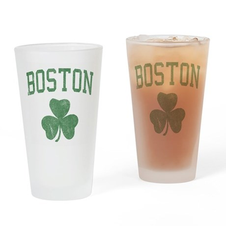 Boston Irish Pint Glass