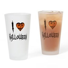 I Love Halloween Pint Glass