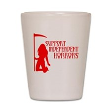 Support Independent Horrors Shot Glass