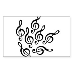 MUSIC IS SEVENTH HEAVEN Decal