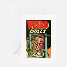 Weird Chills Comic Book Cover Greeting Card