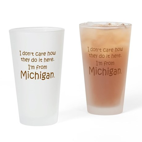 From Michigan Pint Glass