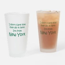 From New York Pint Glass