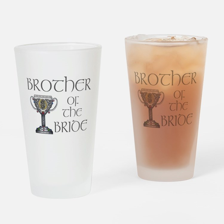 Celtic Brother Bride Pint Glass