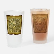 Celtic Letter O Pint Glass