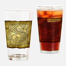 Celtic Letter S Pint Glass