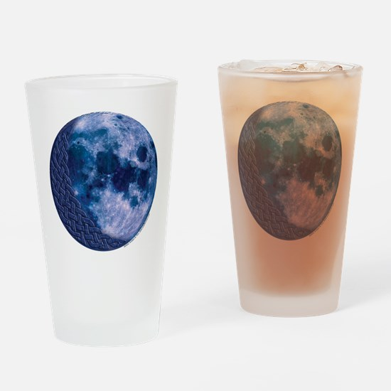 Celtic Knotwork Blue Moon Pint Glass