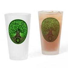 Circle Celtic Tree of Life Pint Glass