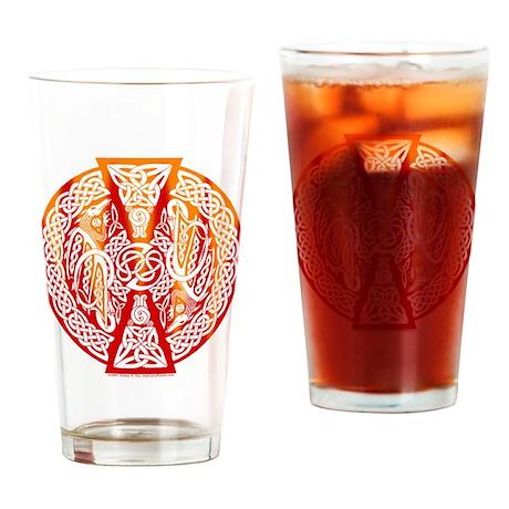 Celtic Knotwork Dragons Fire Pint Glass