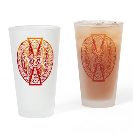 Celtic Knotwork Dragons Fire Pint Glass