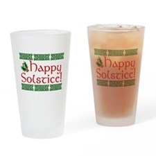 Happy Solstice Drinking Glass